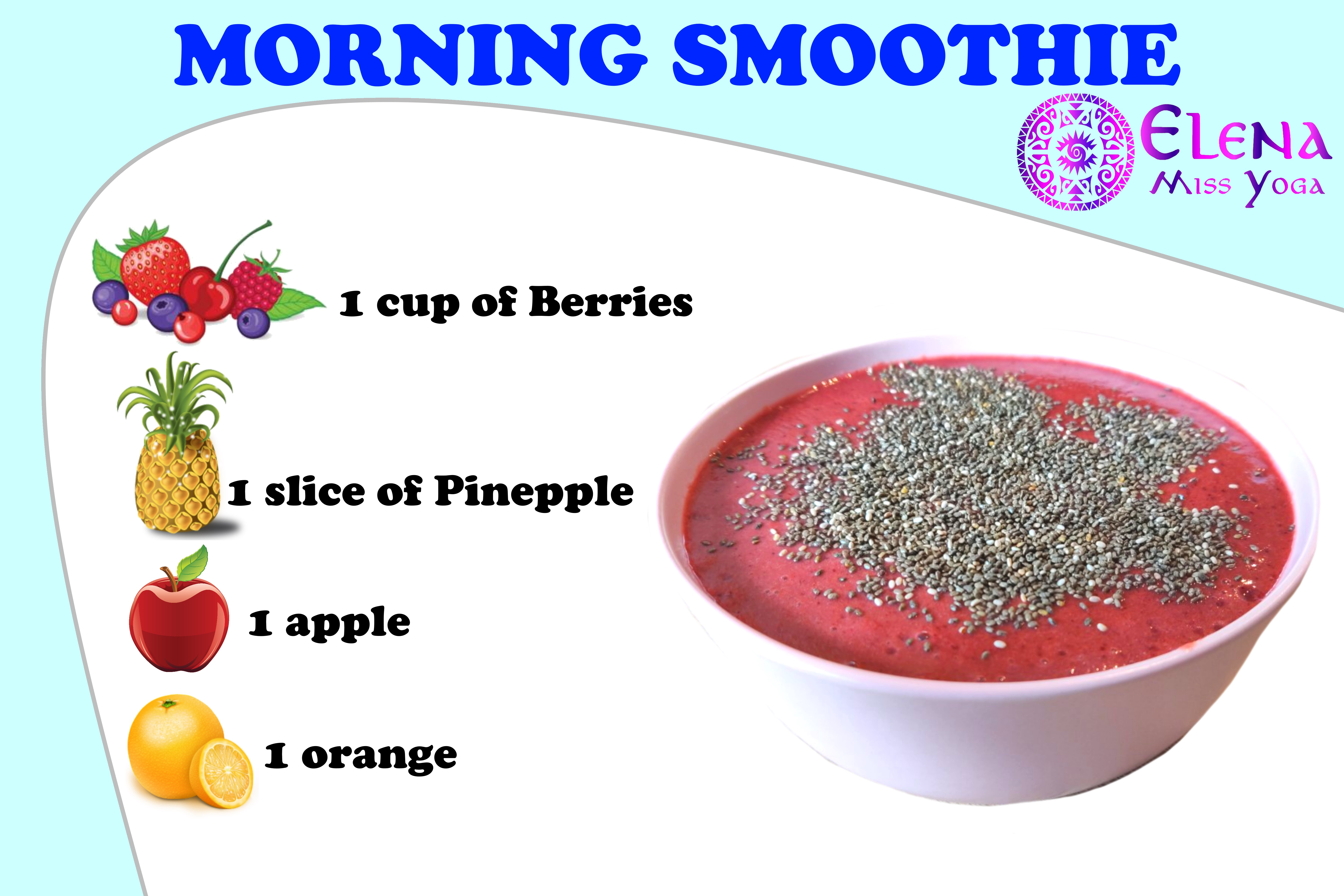 MY FAVOURITE MORNING SMOOTHIE