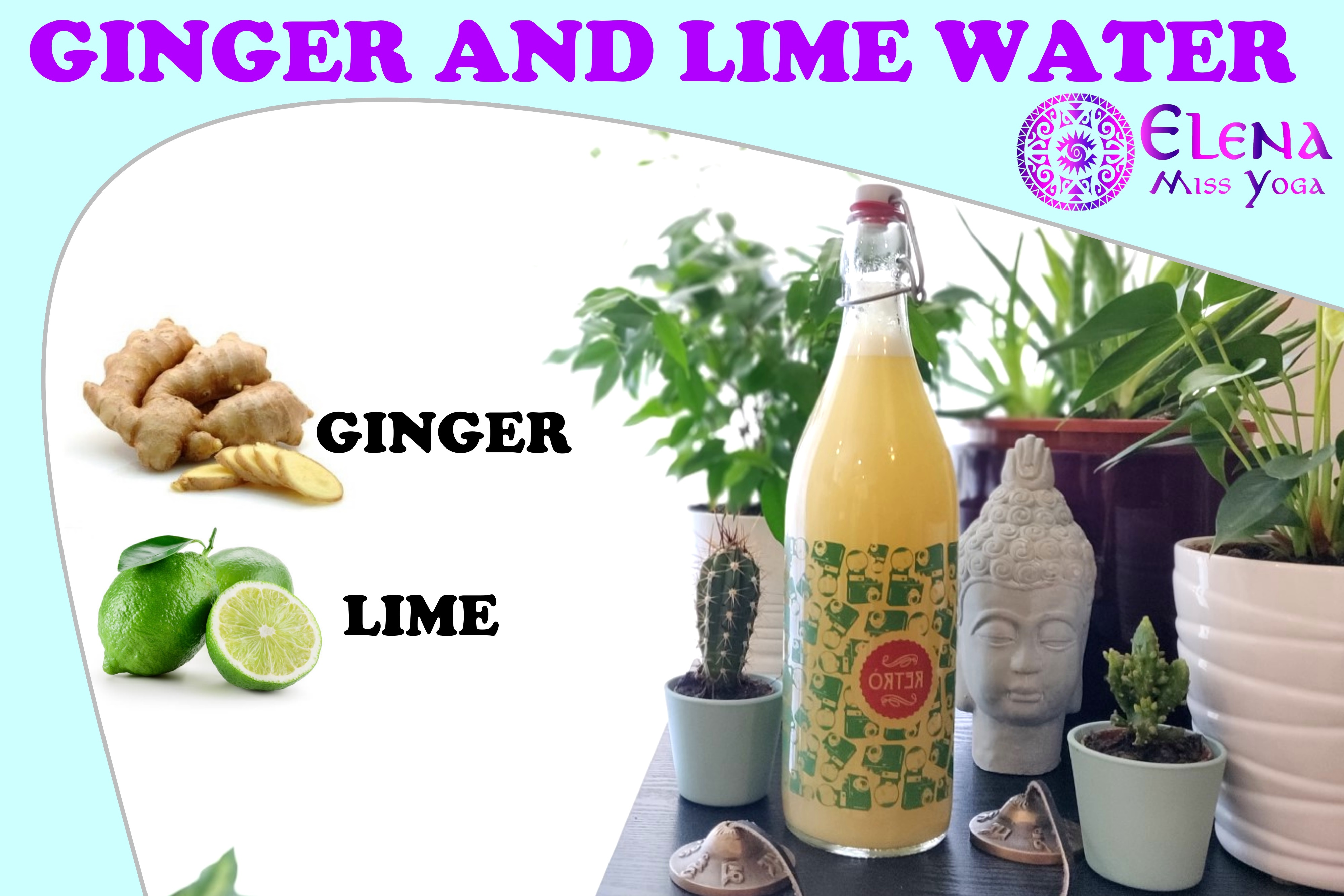 EASY PEASY GINGER SQUEEZING - HOMEMADE GINGER AND LIME WATER
