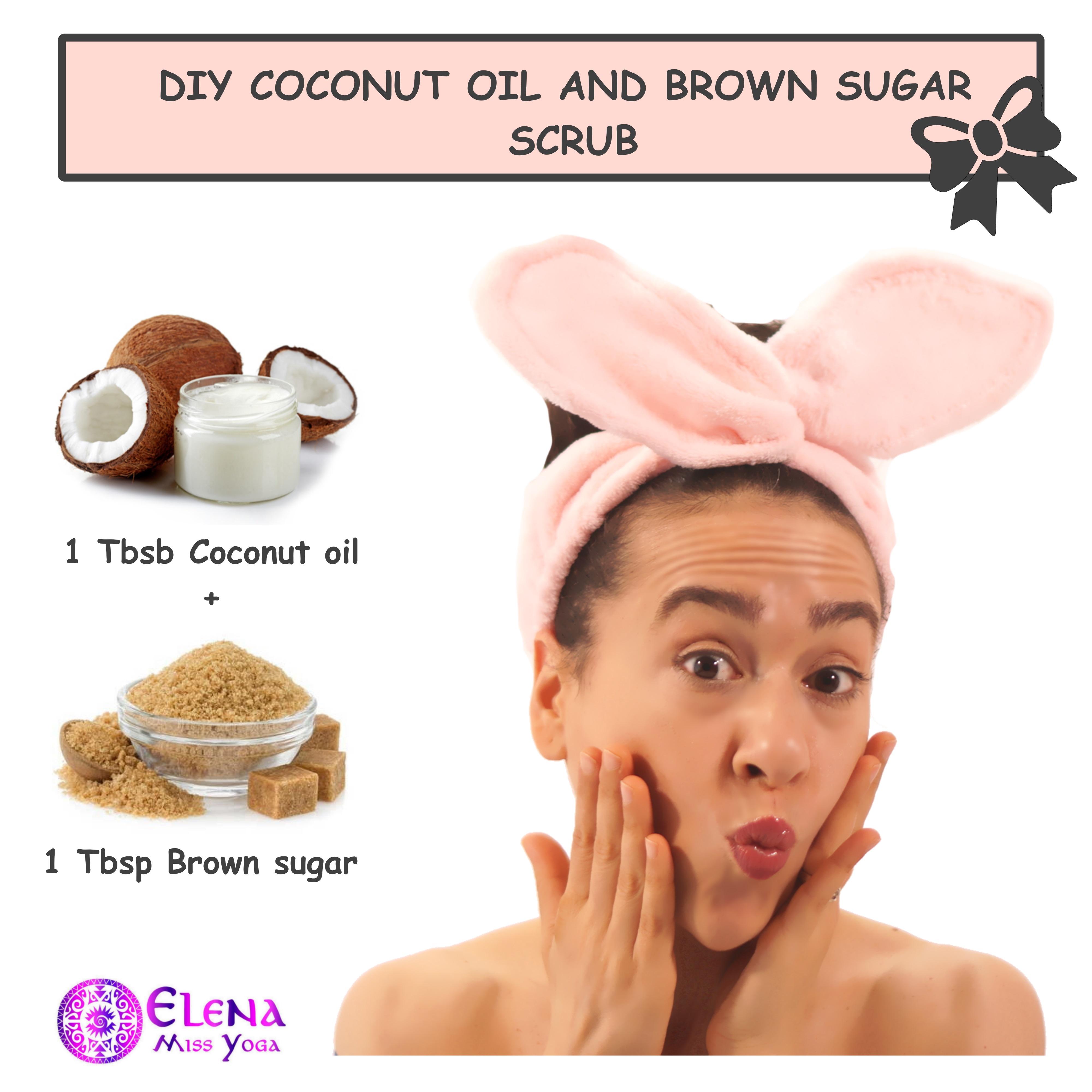 DIY COCONUT OIL AND BROWN SUGAR SCRUB