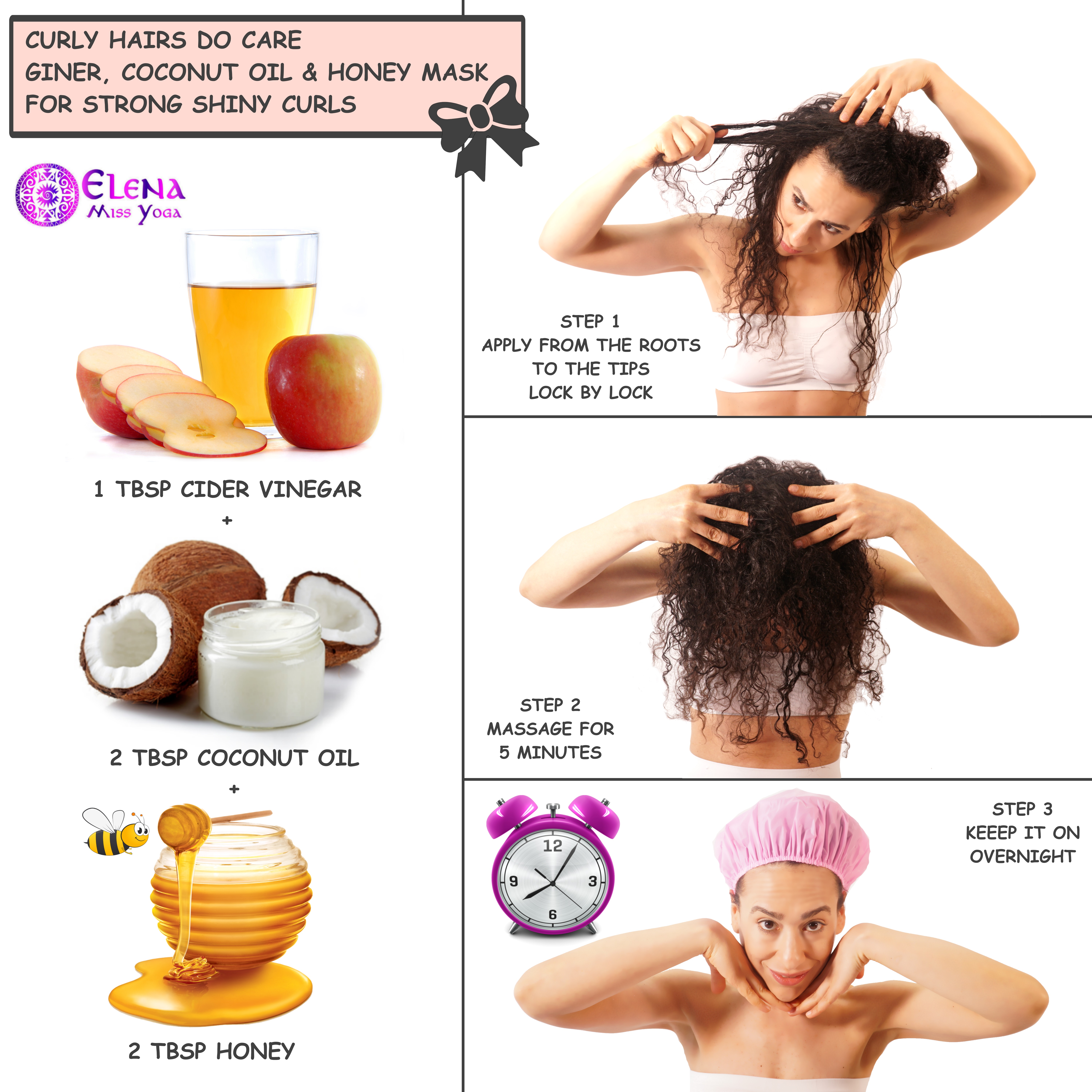 GINGER COCONUT AND HONEY MASK - FOR STRONG SHINY CURLS