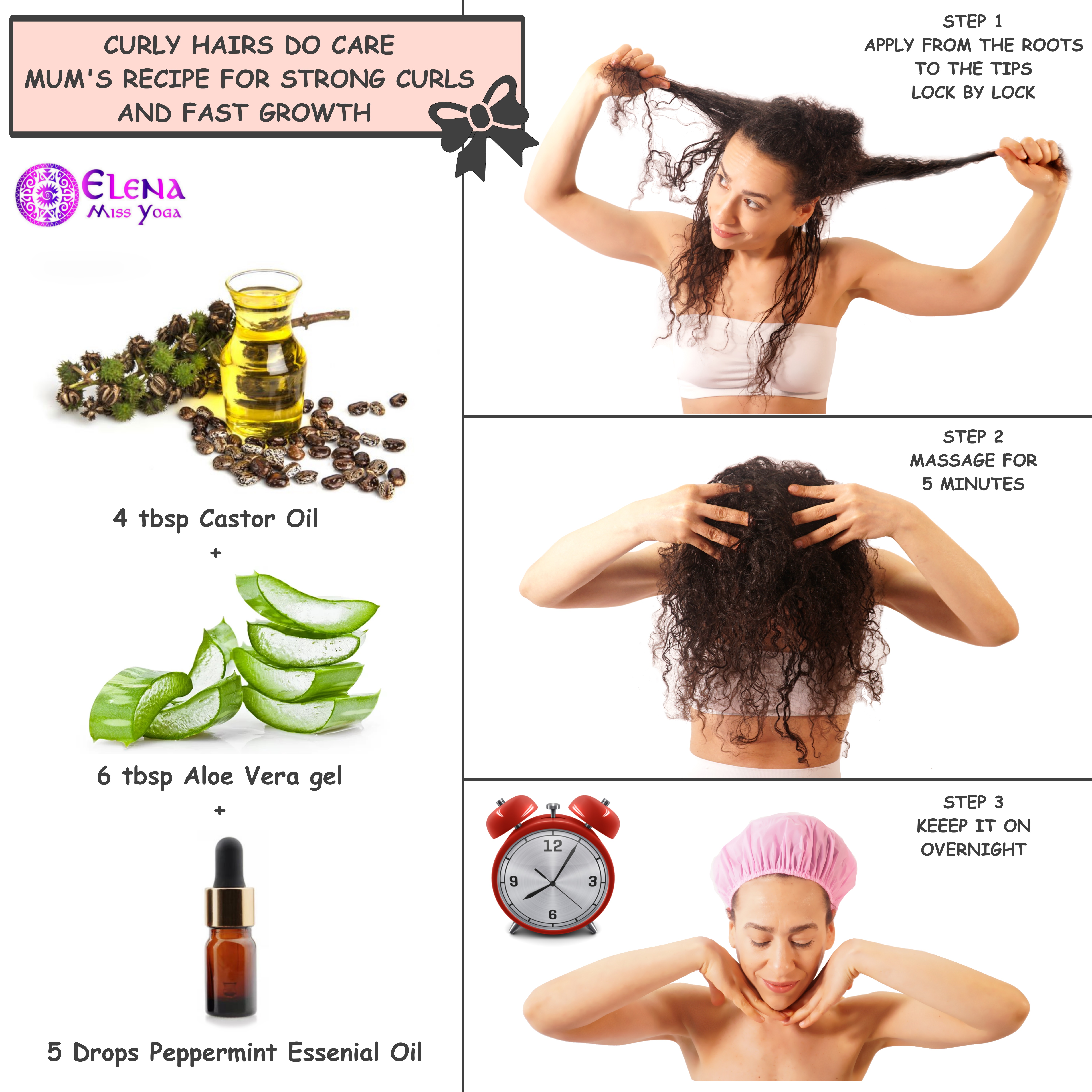 CASTOR OIL HAIR MASK - MUM'S RECIPE FOR STRONG CURLS AND FAST GROWTH