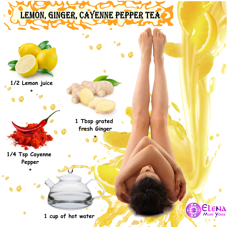 LEMON, GINGER, CAYENNE PEPPER TEA
