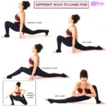 DIFFERENT WAYS TO LUNGE POSE